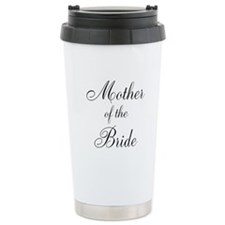 Mother of the Bride Black Scr Travel Mug