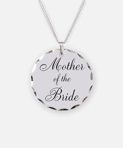 Mother of the Bride Black Scr Necklace