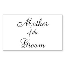Mother of the Groom Black Sci Decal