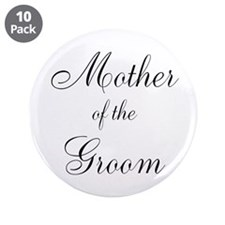"""Mother of the Groom Black Sci 3.5"""" Button (10 pack"""