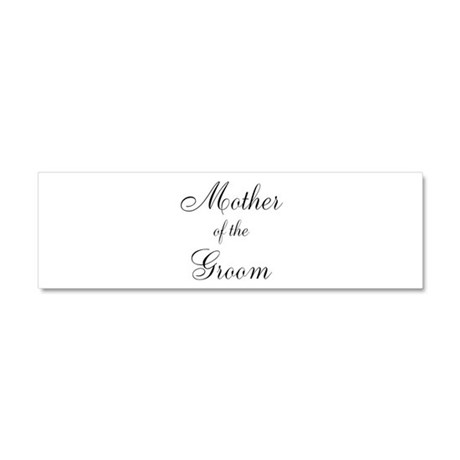 Mother of the Groom Black Sci Car Magnet 10 x 3