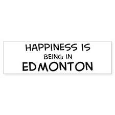Happiness is Edmonton Bumper Bumper Sticker