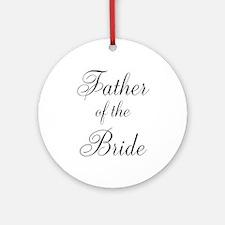 Father of the Bride Black Scr Ornament (Round)