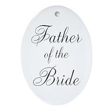 Father of the Bride Black Scr Ornament (Oval)