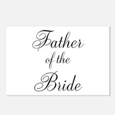 Father of the Bride Black Scr Postcards (Package o