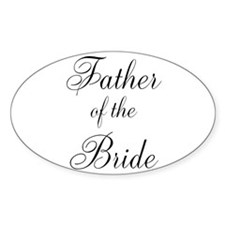 Father of the Bride Black Scr Decal