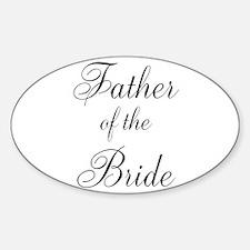 Father of the Bride Black Scr Sticker (Oval)