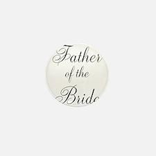 Father of the Bride Black Scr Mini Button (10 pack