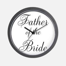 Father of the Bride Black Scr Wall Clock