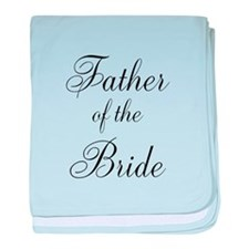 Father of the Bride Black Scr baby blanket