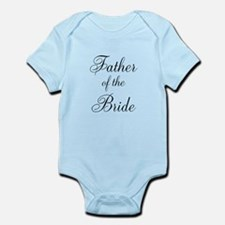 Father of the Bride Black Scr Infant Bodysuit