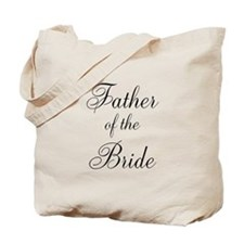 Father of the Bride Black Scr Tote Bag