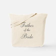 Father of the Bride Black Scr Tote Bag
