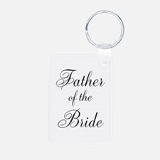 Father of the Bride Black Scr Keychains