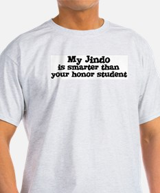 Honor Student: My Jindo Ash Grey T-Shirt