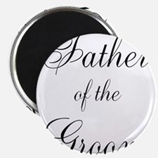 """Father of the Groom Black Scr 2.25"""" Magnet (10 pac"""