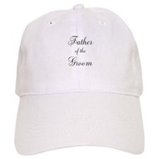 Father of the Groom Black Scr Cap