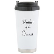Father of the Groom Black Scr Travel Mug