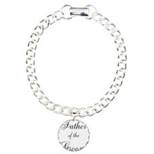 Father of the Groom Black Scr Bracelet