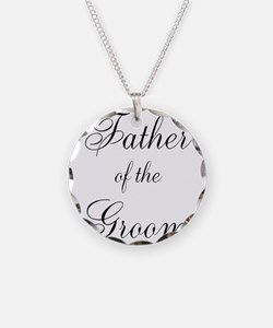 Father of the Groom Black Scr Necklace