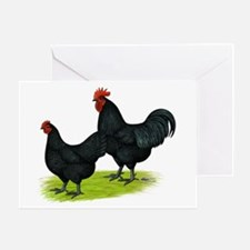 Australorp Chickens Greeting Card