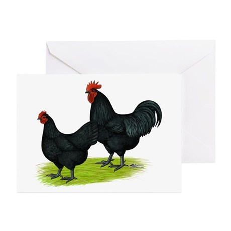 Australorp Chickens Greeting Cards (Pk of 10)
