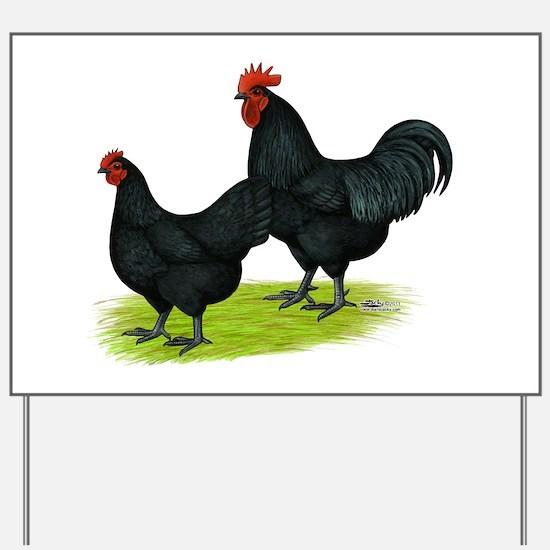 Australorp Chickens Yard Sign