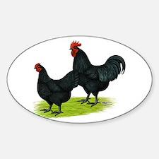 Australorp Chickens Sticker (Oval)