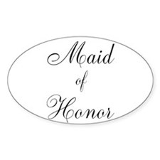 Maid of Honor Black Script Decal