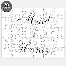 Maid of Honor Black Script Puzzle