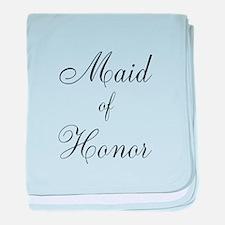 Maid of Honor Black Script baby blanket