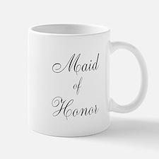 Maid of Honor Black Script Mug