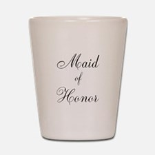 Maid of Honor Black Script Shot Glass