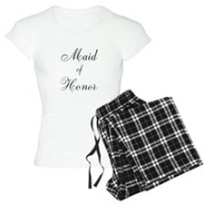 Maid of Honor Black Script Pajamas