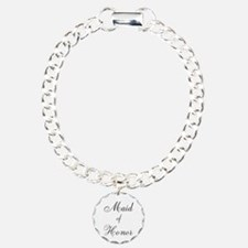 Maid of Honor Black Script Bracelet