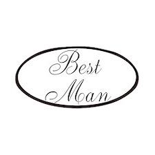 Best Man Black Script Patches