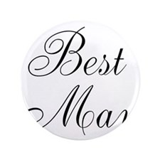 "Best Man Black Script 3.5"" Button"