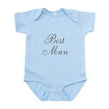 Best Man Black Script Infant Bodysuit