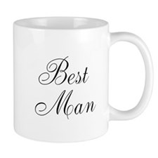 Best Man Black Script Mug