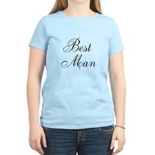 Best Man Black Script T-Shirt