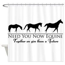 Need You Now Equine Shower Curtain