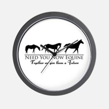 Need You Now Equine Wall Clock
