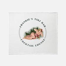 Frankie's Tiki Bar Hula Girl Throw Blanket