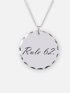 E Necklace Circle Charm