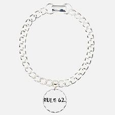 F Charm Bracelet, One Charm