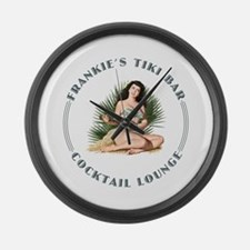 Frankie's Tiki Bar Hula Girl Large Wall Clock