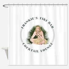 Frankie's Tiki Bar Hula Girl Shower Curtain