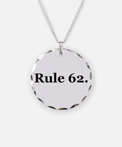P Necklace Circle Charm