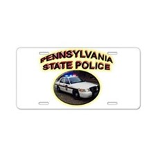 Pennsylvania State Police Aluminum License Plate
