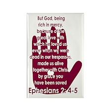 Ephesians 2:4-5 Rectangle Magnet (10 pack)